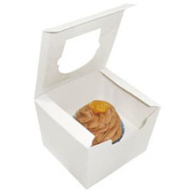 Boîte pour 1 Cupcakes Blanc avec insert (20 Utés)