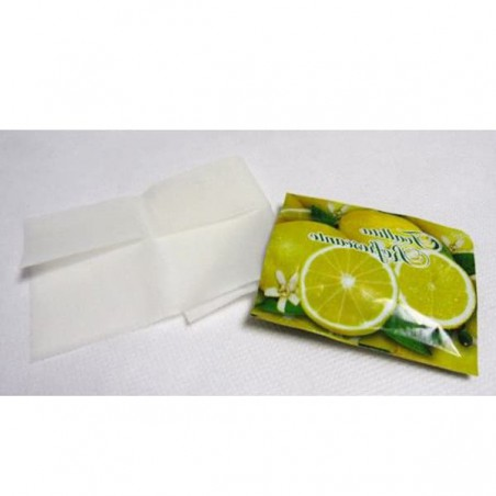 Lingettes Rafraîchissantes Citron en sachet (Boîte 500 Unités)