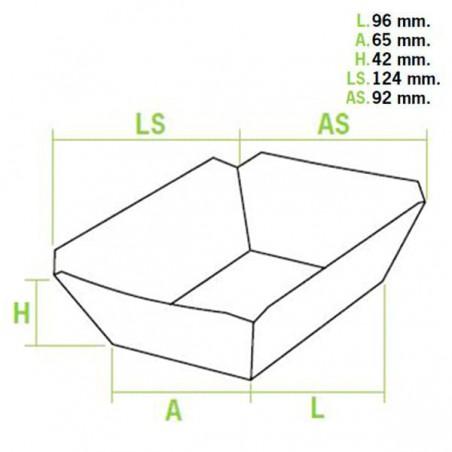 Barquette Carton 250 ml 9,6x6,5x4,2cm (50 Unités)