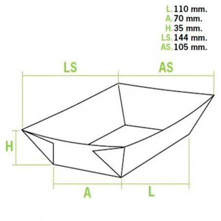 Barquette Carton 300ml 11,0x7,0x3,5cm (50 Unités)