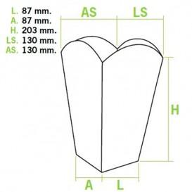 Etuis à Pop-Corn Grand 150g 8,7x13x20,3cm (250 Unités)