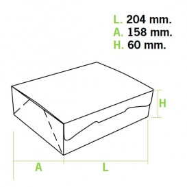 Boîte pâtissière 20,4x15,8x6cm 1Kg. Rose (5 Utés)