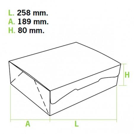 Boîte pâtissière 25,8x18,9x8cm 2Kg. Blanc (125 Utés)