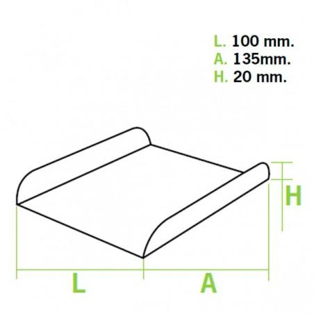 Emballage blanc pour gaufre (1500 Utés)