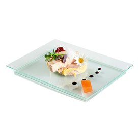 Plastic dienblad PS extra sterk groen 13x18cm (4 stuks)