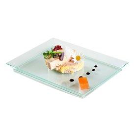 Plateau en plastique dur Water Green 13x18 cm (4 Utés)