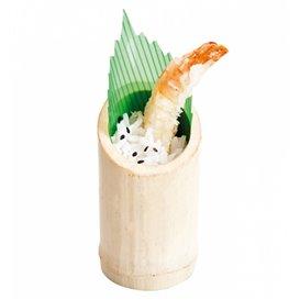 Bamboe proeving beker Truncated 5x9cm (10 stuks)
