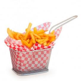 Mini friteuse de Présentation en Acier 10x10x7,5cm (1 Unité)