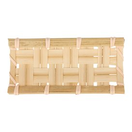 "Bamboe wegwerp dienblad ""Trenzado"" 10,5x5cm (24 stuks)"