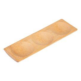 Bamboe wegwerp dienblad 18x5,5x1cm (12 stuks)
