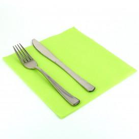 Serviette Papier Molletonnée 40x40 Vert Citron (50 Utés)