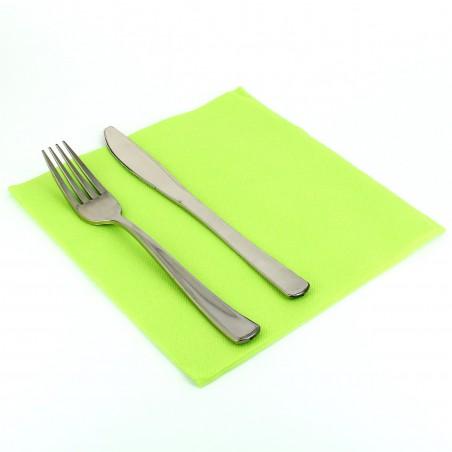 Serviette Papier Molletonnée 40x40 Vert Citron (1.200 Utés)