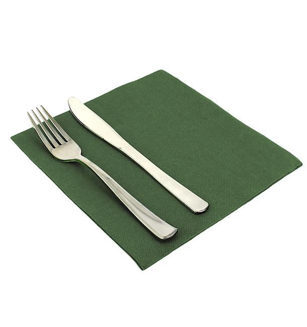 Serviettes en papier UNIES 40X40 Verte (50 Unités)