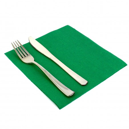 Serviette en papier UNIE 40X40 Verte (1.200 Unités)