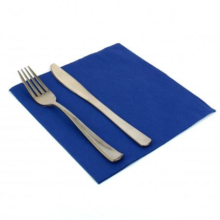 Serviette Papier Molletonnée 40x40 Bleu (1.200 Unités)