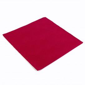 Serviette en papier UNIE 40X40 Bordeaux (50 Unités)