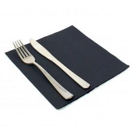 Papieren servet dubbel punt zwart 40x40cm (1.200 stuks)