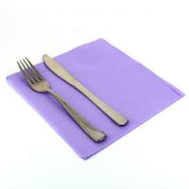 Papieren servet dubbel punt lila 40x40cm (1.200 stuks)