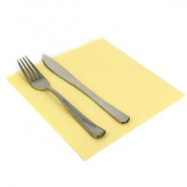 Papieren servet dubbel punt crème 40x40cm (1.200 stuks)