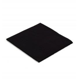 Papieren servet zwart 20x20cm 2C (100 stuks)