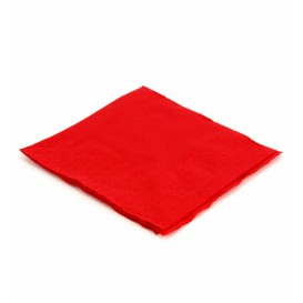 Serviette Papier à Cocktail 20x20 Rouge (6.000 Unités)