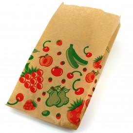 Papieren voedsel zak Fruit Design 14+7x28cm (1000 stuks)