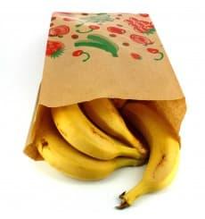 Sac Fruit Kraft 18+10x28cm  (1000 Utés)