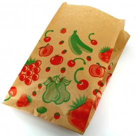 Papieren voedsel zak Fruit Design 22+12x36cm (1000 stuks)