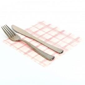Papieren servet rood Vierkant 1-laags 33x33 (80 stuks)
